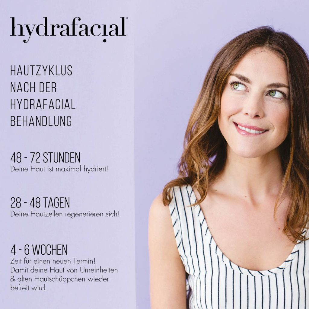 Bild zur Darstellung des Hautzyklus nach eienr HydraFacial Behandlung